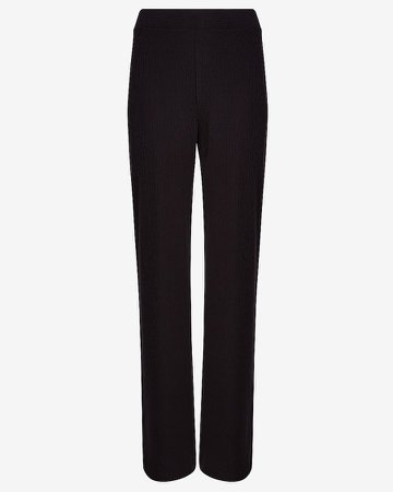 High Waisted Soft Ribbed Wide Leg Pant