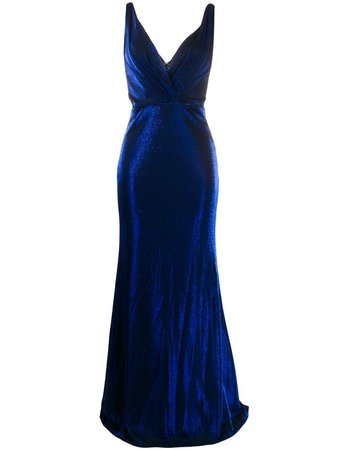 Blanca Vita Velvet Gown 6804 Blue | Farfetch
