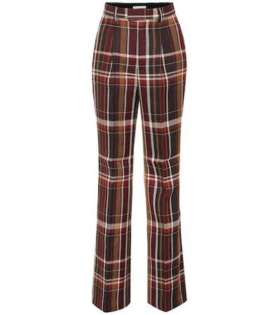 High-rise wool flared pants