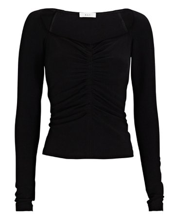A.L.C. Halley Ruched Long Sleeve T-Shirt | INTERMIX®