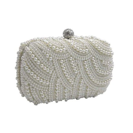 Pearl clutch bag ivory – Pulse Accessories