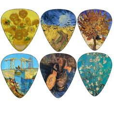 Pinterest (Pin) (7) Vincent Van Gogh Guitar Picks