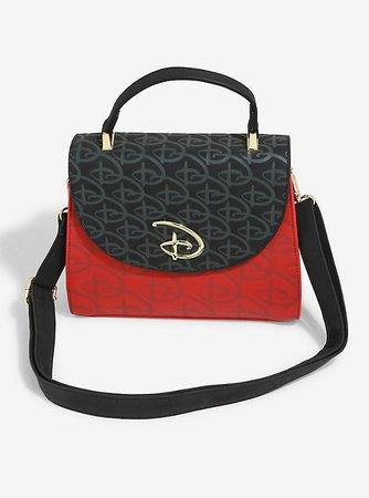 Loungefly Disney Logo Red & Black Crossbody Bag