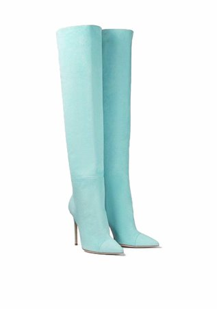 Ralph&Russo Oceana Suede Over the Knee Boots