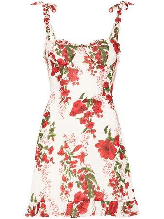 Reformation Christine Floral Print Mini Dress - Farfetch