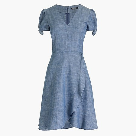Chambray faux-wrap dress : FactoryWomen Casual Dresses | Factory