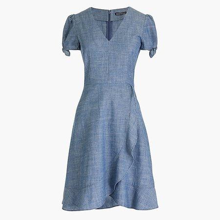 Chambray faux-wrap dress : FactoryWomen Casual Dresses | Factory