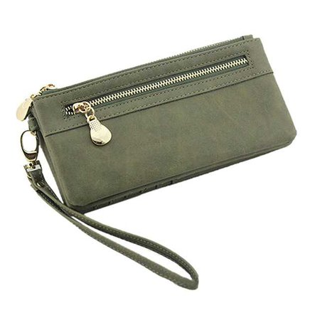 Women Wallets Hot Fashion Multifunctional PU Leather Clutch Lady Purse Phone bag army green-in Wallets from Luggage & Bags on Aliexpress.com | Alibaba Group