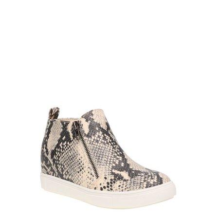 cream Time and Tru - Time and Tru Sneaker Wedge Bootie (Women's) (Wide Width Available) - Walmart.com - Walmart.com