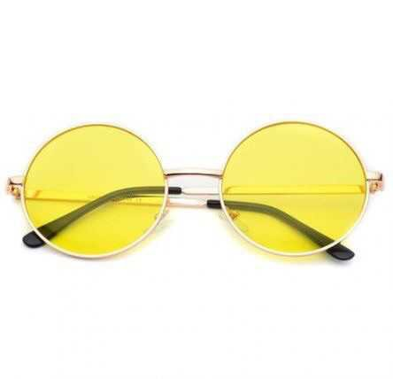 Yellow Circle Sunglasses