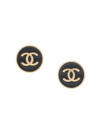 Chanel Pre-Owned 2001 CC Rounded Earrings - Farfetch