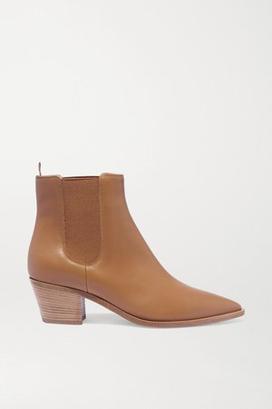45 Leather Chelsea Boots - Beige