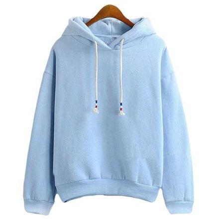 cute blue hoodie