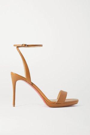 Tan Loubi Queen 100 leather sandals | Christian Louboutin | NET-A-PORTER