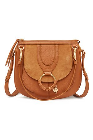 See by Chloé - Leather and Suede Shoulder Bag - brown
