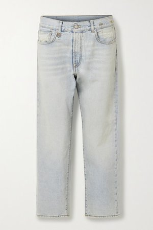 Mid-rise Boyfriend Jeans - Light denim