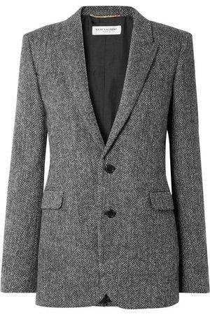 Saint Laurent | Herringbone wool blazer | NET-A-PORTER.COM