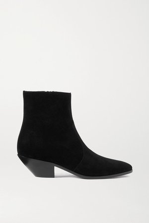 West Suede Ankle Boots - Black