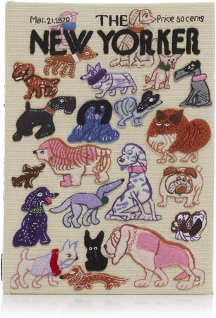 Olympia Le-Tan The New Yorker Dogs Book Clutch