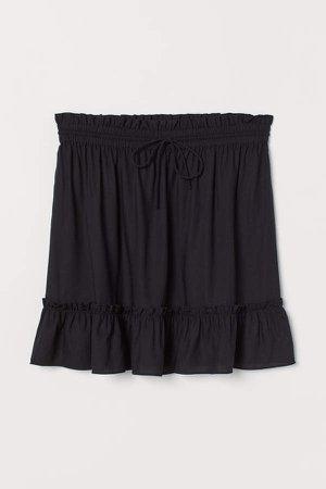 Short Ruffled Skirt - Black