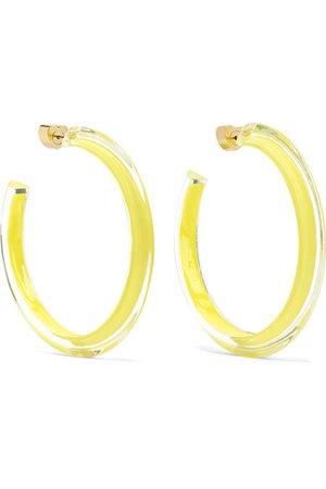 Alison Lou   Medium Jelly Lucite and enamel hoop earrings   NET-A-PORTER.COM