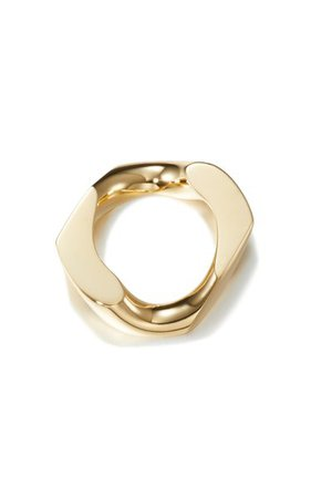 14k Gold-Plated Chain Unit Ring By Numbering | Moda Operandi