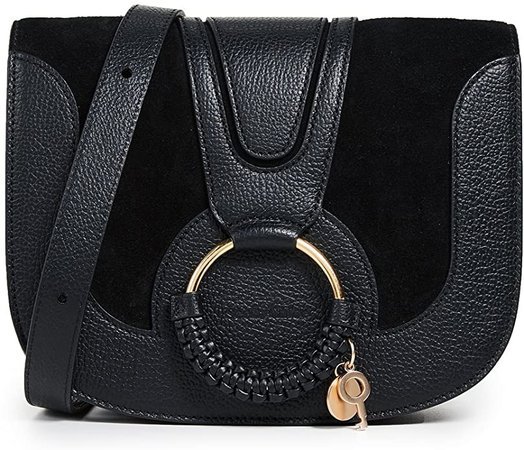 Amazon.com: See by Chloe Women's Hana Medium Saddle Bag, Black, One Size: Clothing