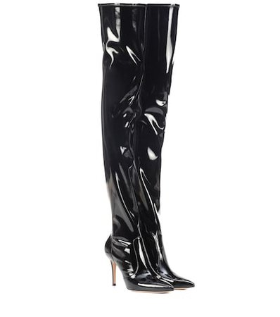 Imogen vinyl over-the-knee boots