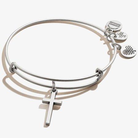 Cross Charm Bangle Bracelet - ALEX AND ANI
