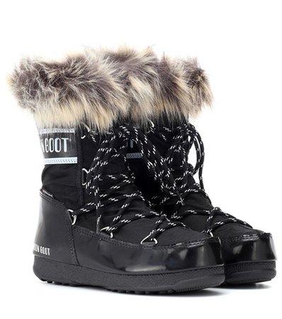 Monaco Low fur-trimmed ankle boots