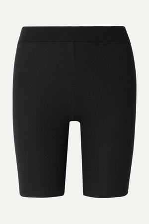 Black Ribbed stretch-Micro Modal shorts | ATM Anthony Thomas Melillo | NET-A-PORTER