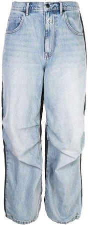 contrast boyfriend jeans