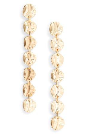 Halogen® Molten Disc Linear Earrings | Nordstrom