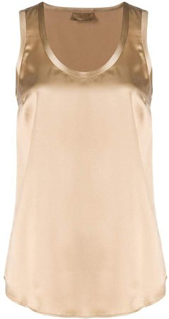 sleeveless round-neck top