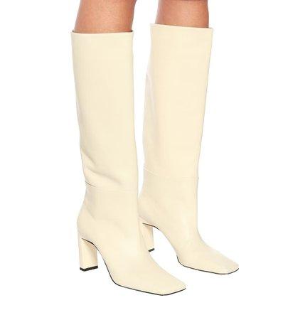 Wandler - Isa leather knee-high boots   Mytheresa