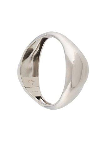 Silver Chloé sculpted cuff bracelet - Farfetch