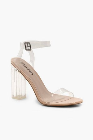 Clear 2 Part Block Heels | boohoo