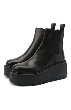 Женские черные кожаные челси valentino garavani VALENTINO — купить за 72650 руб. в интернет-магазине ЦУМ, арт. UW0S0AP7/RBJ