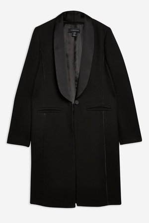 Satin Trim Tuxedo Coat - Jackets & Coats - Clothing - Topshop