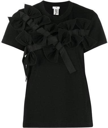 bow applique T-shirt