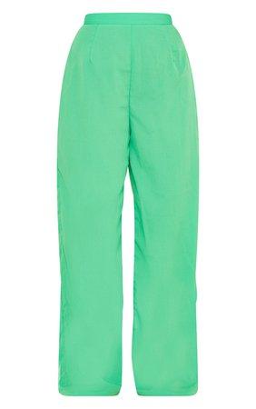 Bright Green Wide Leg Pants | PrettyLittleThing USA