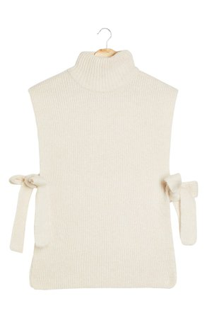 Topshop Side Tie Sleeveless Sweater | Nordstrom