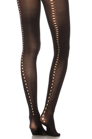 Cut Out Backseam Tights
