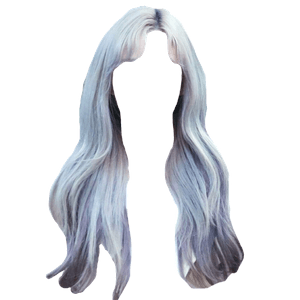 Silver Hair PNG Blue