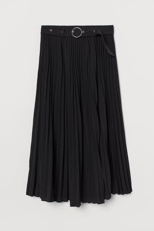 Pleated Skirt - Black