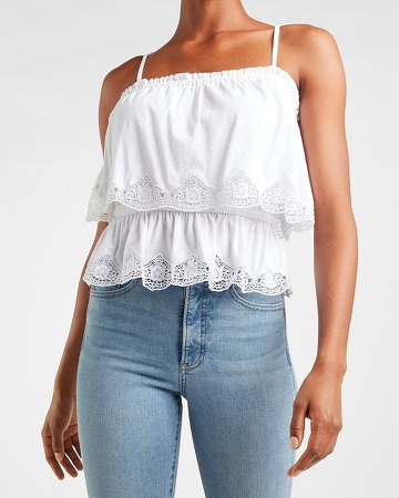 Tiered Lace Trim Cami