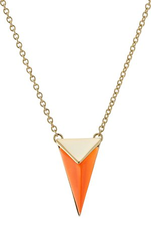 Gold-Plated Necklace with Lucite Gr. One Size
