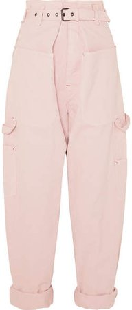 Inny Cotton Tapered Pants - Pink