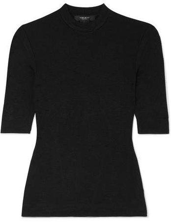 TWENTY Montréal - Mackay Ribbed Stretch-jersey T-shirt - Black