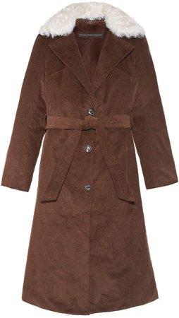 Pologeorgis The Arizona Fur Lined Corduroy Coat